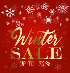 winter sale poster vector image vector image