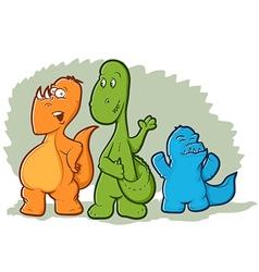 Cartoon Dinosaur Monsters vector image vector image