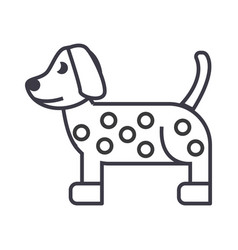 dog dalmatian line icon sign vector image vector image