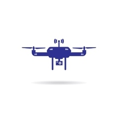 Drone Icon isolated Drone on white vector image