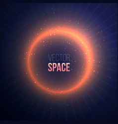 explosion with a space flare on dark background vector image