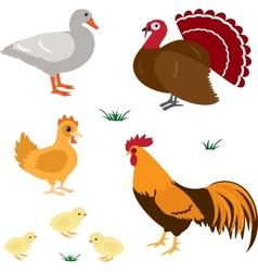 Farm animals set 4 vector image
