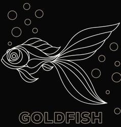Goldfish Logo vector image vector image