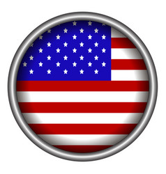 isolated american badge vector image vector image