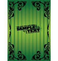 vintage green flyer vector image vector image