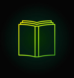 book simple green icon vector image vector image