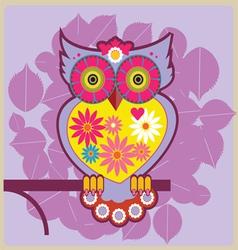 cartoon owl queen vector image vector image