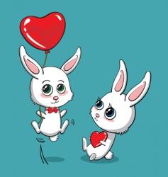love bunny vector image vector image