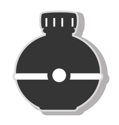 Water bottle object icon vector image