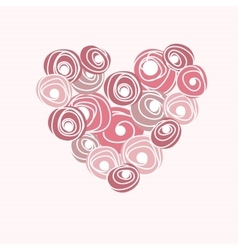 Wedding card with heart from roses Cartoon vector image vector image