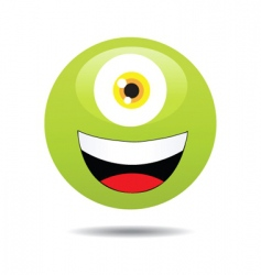 1eye monster vector image