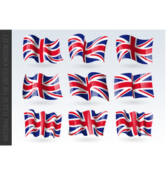 3d waving flag united kingdom great britain vector image