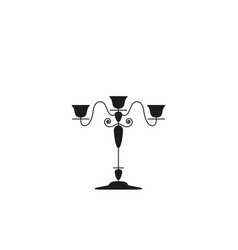 a candlestick of classik the black icon vector image