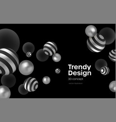 abstract background with realistic blackand silver vector image
