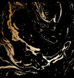 Abstract black and gold texture vector