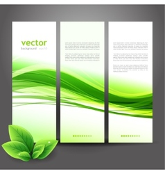 Abstract nature ecology background vector image