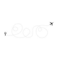 Airplane travel concept plane vector