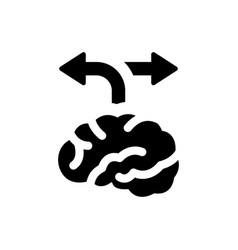Alternative solution icon vector
