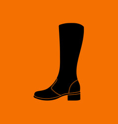 Autumn woman boot icon vector