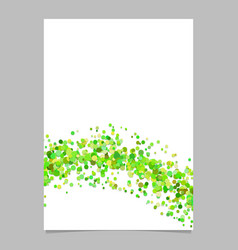 Blank abstract wave scattered confetti dot flyer vector