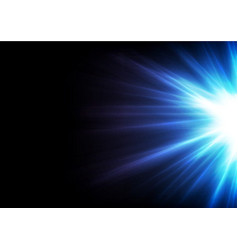 blue glowing shiny rays abstract background vector image