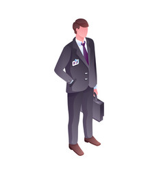 businessman isometric vector image
