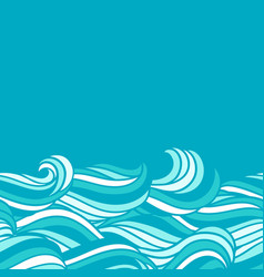 card design with waves background with sea river vector image