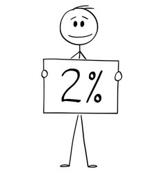 Cartoon man or businessman holding 2 or two vector
