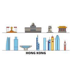 china hong kong city flat landmarks vector image