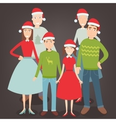Christmas family portrait Family holidays vector