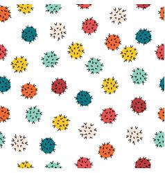 corona virus kids pattern seamless repeating vector image
