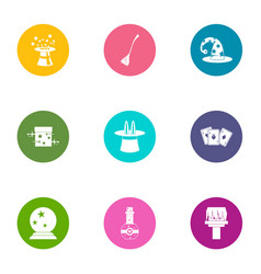 Divination icons set flat style vector