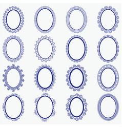Elegant lace borders frames laser cut vector