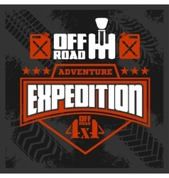 Expedition - emblem with 4x4 vehicle off-road vector