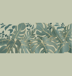 floral leaves seamless pattern foliage garden vector image