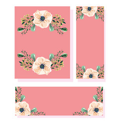 flowers in watercolor style for cards and wedding vector image