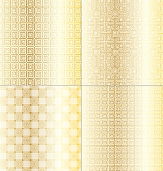 Fret work patterns vector