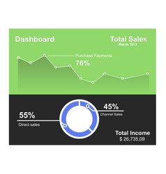 graph chart in flat style vector image