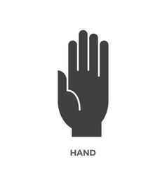 Hand glyph icon vector