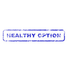 Healthy option rubber stamp vector