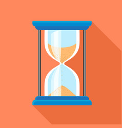 hour glass timer icon flat style vector image