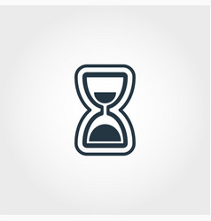 hourglass icon from measurement icons collection vector image