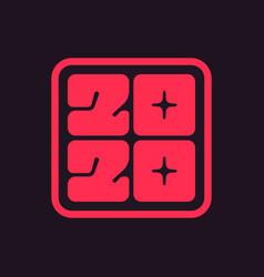 icon 2020 happy new year vector image