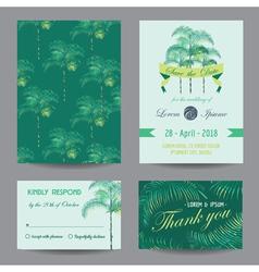 Invitation-Congratulation Card Set vector image