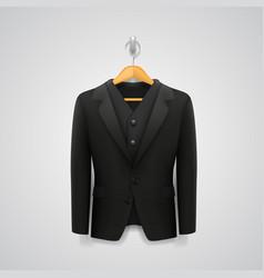 Jacket on a hanger vector