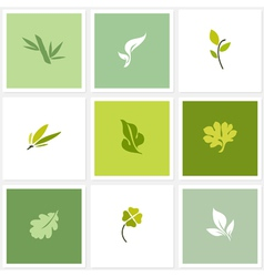 Leaf - Set of posters design elements vector image