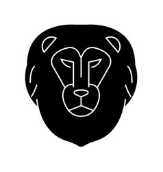 lion head icon sign o vector image