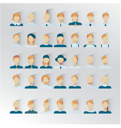 male blond hair human faces social network icons vector image