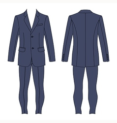 Mans grey suit jacket skinny jeans vector image