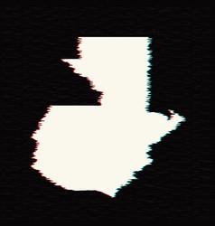 Map guatemala isolated black vector